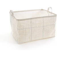 Acao Check-Print Storage Basket