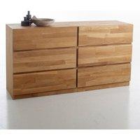 Adelita 6-Drawer Solid Oak Chest