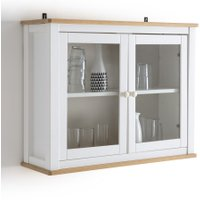 Alvina Solid Pine Display Cabinet