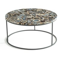 Anaximène Agate and Metal Coffee Table