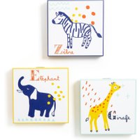 Animalia Children's Animal Artwork (Set of 3)