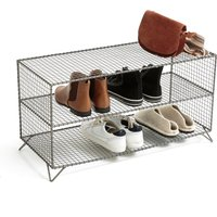 Areglo Metal Cage Low Shelving Unit