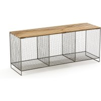 Aréglo Storage Bench in Metal/Wood