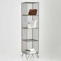 Areglo Tall Metal Shelving Unit with 4 Compartments