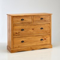 Authentic Style Solid-Pine 4-Drawer Chest