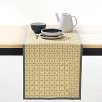 Azila Patterned Table Runner with Anti-Stain Treatment