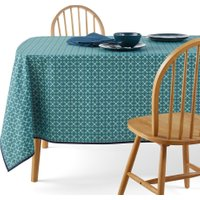 Azila Patterned Tablecloth with Anti-Stain Treatment