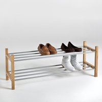 Bamboo 2-Tier Shoe Rack