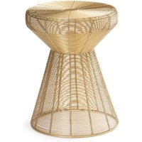 Bangor Golden Wire Side Table / Stool