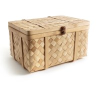Bathilda Handcrafted Woven Bamboo Trunk