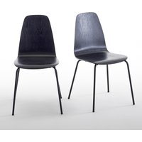 Set of 2 Biface Vintage-Style Chairs