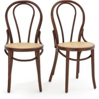 Bistro Cane Seat Chairs (Set of 2)