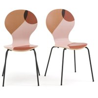 Set of 2 Bonna Printed Stackable Chairs