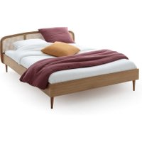 Buisseau Oak/Cane Bed with Base