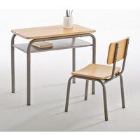 Buton Vintage Wood & Metal School Desk and Chair