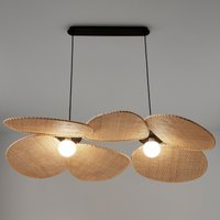 Canopee Ceiling Light by E. Gallina in Rattan & Metal