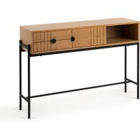 Clara Oak Console Table with Storage