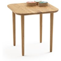 Crueso High Square Oak Coffee Table