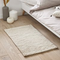 Diano Wool Knit Effect Bedside Rug