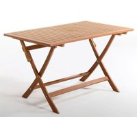 Folding Oblong Outdoor Wooden Table