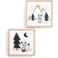 Set of 2 Forest Camp Children's Artwork