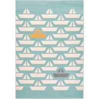 Galet Child's Boat Print Rug