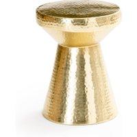 Gange Golden Hammered Metal Side Table