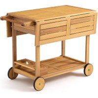 Garden Multi-functional Acacia Trolley