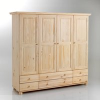 Harold 4-Door Solid Pine Wardrobe