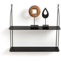 Hiba Double Metal Wall Shelf