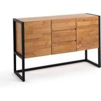 Hiba Oak and Industrial Metal Sideboard