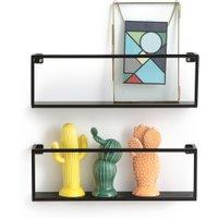 Set of 2 Hiba Metal Wall Shelves