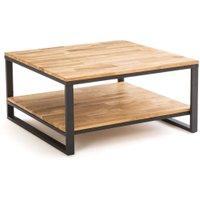 Hiba Square Coffee Table in Oak/Steel