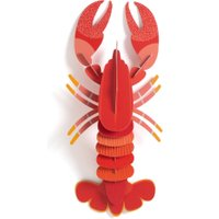 Homard Lobster Wall Ornament in Recycled Card by Studio Roof