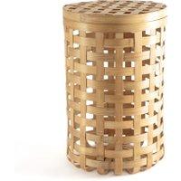 Jakemo Round Woven Bamboo Basket