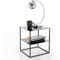 Janik Two-Tier Metal Bedside Table