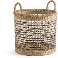 Kezia Rund Woven Grass Openwork Basket
