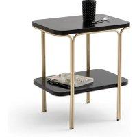 LUXORE Double-Shelf Bedside Table