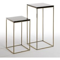 Set of 2 Mahaut Side Tables with Marble Top
