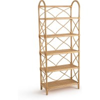 Malu Rattan Bookcase with 5 Shelves