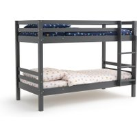 Maysar Solid Pine Twin Bunk Beds with Base