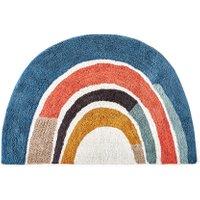 Niji Small Kids Rainbow Rug in Washable Cotton