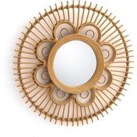 Nogu Flower Shape Rattan Mirror