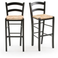 Perrine Country-Style Bar Chairs (Set of 2)