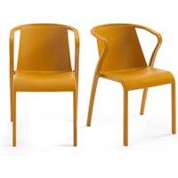 Set of 2 Predsida Polypropylene Stackable Armchairs
