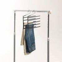 Set of 2 Chrome-Plated Trouser Hangers
