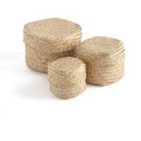 Set of 3 Kotak Braided Boxes
