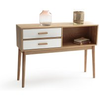 Sheldon Console Table with 2 Drawers & 1 Compartment