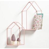 Sonale House-Shaped Wall Shelf (Set of 2)