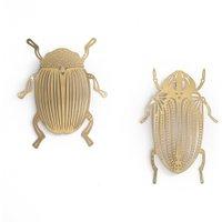 Set of 2 Strakaza Brass Wall Insects